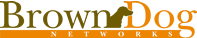 Brown Dog Networks logo.