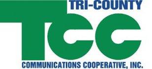 Tri-County Communications Cooperative logo.