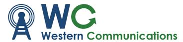 Western Communications logo.