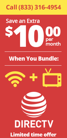 Bundle any internet provider with DirecTV and save!