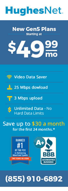 Save with HughesNet Gen5's New Plans