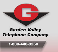 Garden Valley Telephone Company logo.