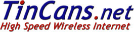 Tincans Wireless Internet logo