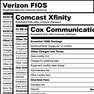 FCC Broadband Facts Labels
