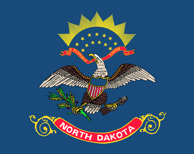 North Dakota state flag.