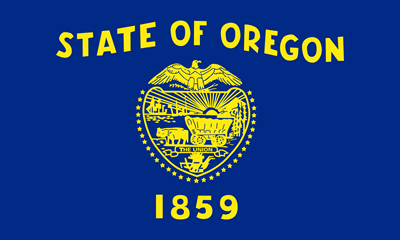 Oregon state flag.
