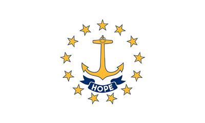 Rhode Island state flag.
