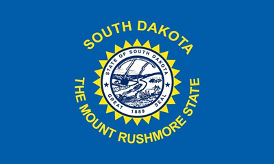South Dakota state flag.