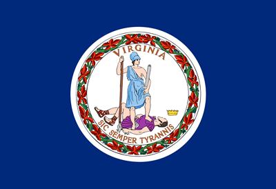 VA state flag.