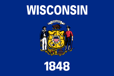 Wisconsin state flag.