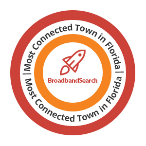 Most Connected Towns Florida Badge